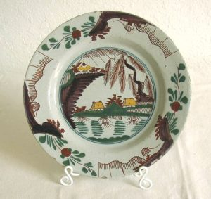 18th C Dutch Delft Polychrome Plate