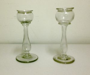 Pair of Blown Oil Lamps