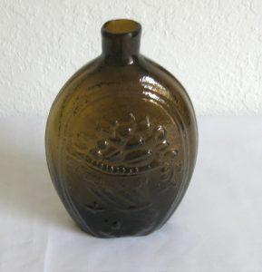 Amber Eagle Cornucopia Flask