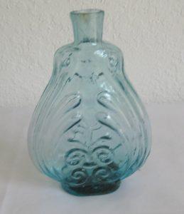 Aqua Quart size Scroll Flask