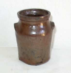 Miniature Two Eared Crock/Jar
