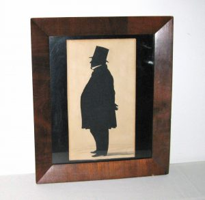 Portly Gentleman Silhouette