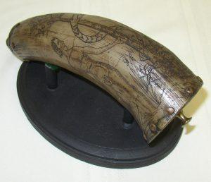 Scrimshawed Powder Horn