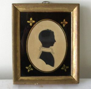 19th C. Silhouette of a Lady