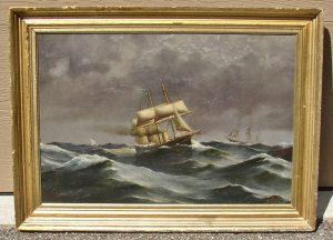 Ship at Sea Portrait