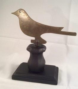 Brass Bird Silhouette