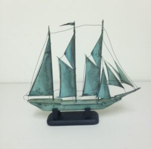 Copper Ship Model