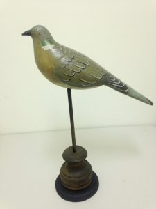 Large Carved Bird on Stand