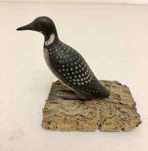 Miniature Carved Loon
