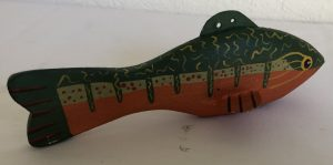 Vintage Trout Ice Fishing Spearing Decoy