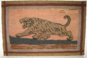 Tiger Hooked Rug