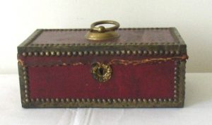 Brass Bound Leather Box