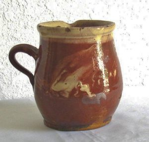 French Redware Pitcher