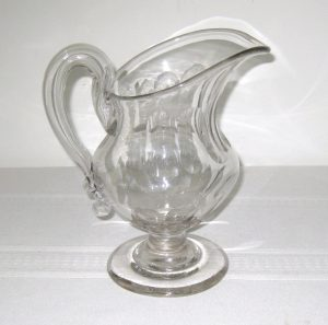 Handled, Footed, Blown Pitcher