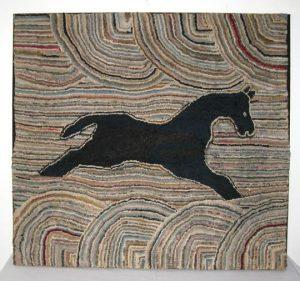 Flying Horse Hooked Rug