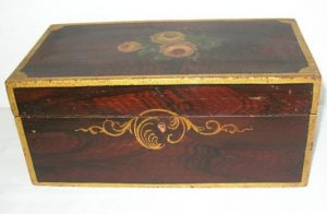 19th C.Paint Decorated Box
