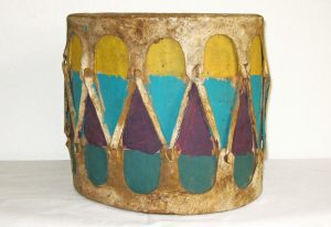 Pueblo painted drum