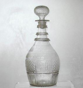19th C. Blown 3-mold Decanter