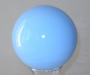 Light Blue Opaque Witchball