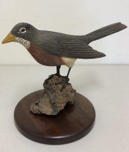 Large Carved Robin