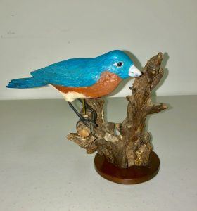 Carved Blue Bird