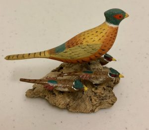 Miniature Carved Pheasant
