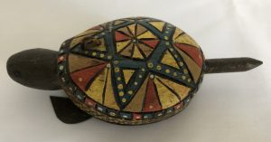 Carved Turtle Spearing Decoy