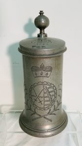 Early Dated 18th. C. Pewter Stein