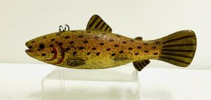 Speckled Brown Trout Ice Fishing Spearing Decoy