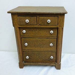 5 Drawer Miniature Grain Painted Chest