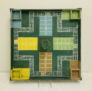 Unusual Game Board Hand Painted in 6 Different Colors