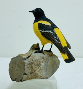 """Exceptionally Well Carved Wood """"Scott's Oriole"""" by Harry Ross (1933-2014)"""