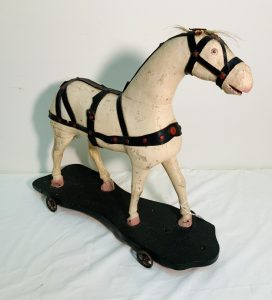 Carved Wood Horse Pull Toy