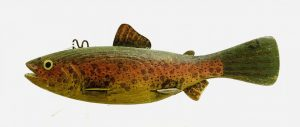 Colorful Rainbow Trout Ice Fishing Spearing Decoy