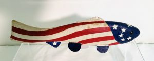 Patriotic Decorated Ice Fishing Spearing Decoy