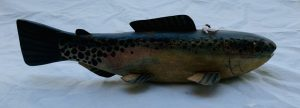 Larger Rainbow Trout Ice Fishing Spearing Decoy