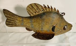 Well Carved Sunfish Ice Fishing Spearing Decoy