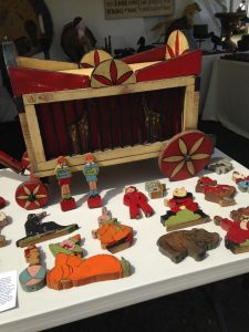 American Folk Art Circus Wagon and 25 Hand Crafted Figures