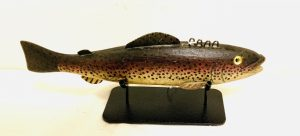 Exceptional Large Rainbow Trout Ice Fishing Spearing Decoy