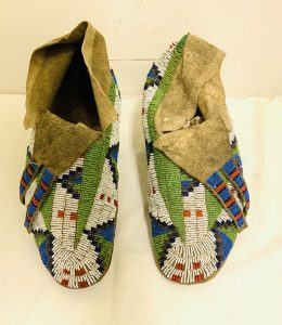 Beautiful 6 Color Beaded Plains Indian Moccasins
