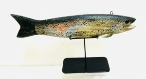 Exceptionally Large Rainbow Trout Ice Fishing Spearing Decoy