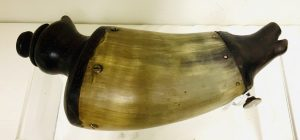 A Very Special Hunter's or Trapper's Cap and Powder Horn