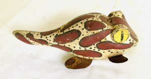 Rare Large Chunky Pollywog Ice Fishing Spearing Decoy