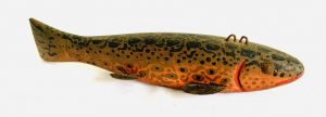Large Colorful Brown Trout Ice Fishing Spearing Decoy